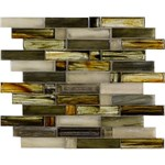 "Marazzi Caicos: Eagle Beach 12"" x 12"" Glass Mosaic Tile ULMY"