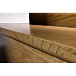 "Kahrs Bayside Collection: Flush Stair Nose Oak Amatique - 78"" Long"