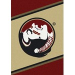 "Milliken College Team Spirit (NCAA) Florida State 74208 Spirit Rectangle (4000019208) 5'4"" x 7'8"" Area Rug"
