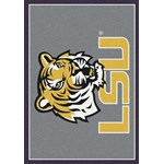 "Milliken College Team Spirit (NCAA) LSU 45280 Spirit Rectangle (4000019171) 5'4"" x 7'8"" Area Rug"