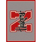 "Milliken College Team Spirit (NCAA) Nebraska 74239 Spirit Rectangle (4000093453) 3'10"" x 5'4"" Area Rug"