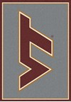 Milliken College Team Spirit (NCAA) Virginia Tech 74159 Spirit Rectangle (4000019313) 7'8