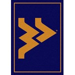 "Milliken College Team Spirit (NCAA) West Virginia 79130 Spirit Rectangle (4000019262) 5'4"" x 7'8"" Area Rug"