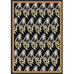 "Milliken NFL Team Repeat (NFL-R) Baltimore Ravens 09008 Repeat Rectangle (4000053026) 10'9"" x 13'2"" Area Rug"