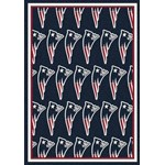 "Milliken NFL Team Repeat (NFL-R) New England Patriots 09056 Repeat Rectangle (4000096037) 10'9"" x 13'2"" Area Rug"