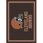 "Milliken NFL Team Spirit (NFL-S) Cleveland Browns 00923 Spirit Rectangle (4000095952) 7'8"" x 10'9"" Area Rug"