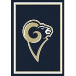 "Milliken NFL Team Spirit (NFL-S) St. Louis Rams 00986 Spirit Rectangle (4000095923) 3'10"" x 5'4"" Area Rug"