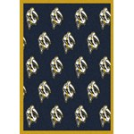 "Milliken NHL Team Repeat (NHL-R) Nashville Predators 01712 Repeat Rectangle (4000020470) 2'1"" x 7'8"" Area Rug"