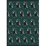 "Milliken NHL Team Repeat (NHL-R) San Jose Sharks 02052 Repeat Rectangle (4000054824) 3'10"" x 5'4"" Area Rug"