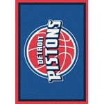 "Milliken NBA Team Spirit (NBA-S) Detroit Pistons 01008 Spirit Rectangle (4000052334) 3'10"" x 5'4"" Area Rug"