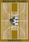 Milliken College Home Court (NCAA) Brigham Young 01048 Court Rectangle (4000018454) 7'8