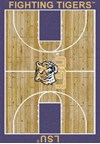 Milliken College Home Court (NCAA) LSU 01152 Court Rectangle (4000018303) 3'10