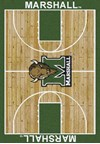 Milliken College Home Court (NCAA) Marshall 01153 Court Rectangle (4000018304) 3'10