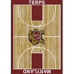 "Milliken College Home Court (NCAA) Maryland 01156 Court Rectangle (4000018305) 3'10"" x 5'4"" Area Rug"