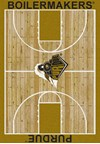 Milliken College Home Court (NCAA) Purdue 01345 Court Rectangle (4000018412) 5'4