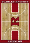 Milliken College Home Court (NCAA) Rutgers 01347 Court Rectangle (4000018328) 3'10