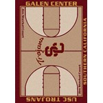 "Milliken College Home Court (NCAA) Southern California 01370 Court Rectangle (4000018501) 7'8"" x 10'9"" Area Rug"