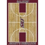 "Milliken College Home Court (NCAA) Southern Illinois 01380 Court Rectangle (4000018502) 7'8"" x 10'9"" Area Rug"
