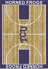 Milliken College Home Court (NCAA) Texas Christian 01430 Court Rectangle (4000018427) 5'4