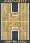 Milliken College Home Court (NCAA) West Virginia 01470 Court Rectangle (4000018524) 7'8