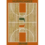 "Milliken College Home Court (NCAA-CRT) Miami 01157 Court Rectangle (4000096103) 10'9"" x 13'2"" Area Rug"