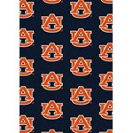 "Milliken College Repeating (NCAA) Auburn 01030 Repeat Rectangle (4000018754) 3'10"" x 5'4"" Area Rug"