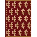 "Milliken College Repeating (NCAA) Iowa State 01111 Repeat Rectangle (4000018840) 5'4"" x 7'8"" Area Rug"