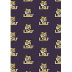 "Milliken College Repeating (NCAA) LSU 01152 Repeat Rectangle (4000018919) 7'8"" x 10'9"" Area Rug"