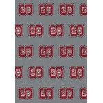 "Milliken College Repeating (NCAA-RPT) North Carolina State 01210 Repeat Rectangle (4000096206) 7'8"" x 10'9"" Area Rug"