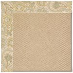 Capel Rugs Creative Concepts Cane Wicker - Paddock Shawl Mineral (310) Octagon 4' x 4' Area Rug