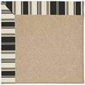 Capel Rugs Creative Concepts Cane Wicker - Down The Lane Ebony (370) Octagon 4
