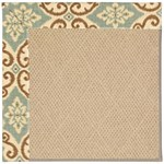 Capel Rugs Creative Concepts Cane Wicker - Shoreham Spray (410) Octagon 4' x 4' Area Rug