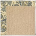 Capel Rugs Creative Concepts Cane Wicker - Cayo Vista Ocean (425) Octagon 4