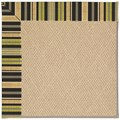 Capel Rugs Creative Concepts Cane Wicker - Vera Cruz Coal (350) Octagon 8
