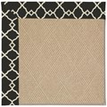 Capel Rugs Creative Concepts Cane Wicker - Arden Black (346) Octagon 10