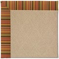 Capel Rugs Creative Concepts Cane Wicker - Tuscan Stripe Adobe (825) Octagon 10