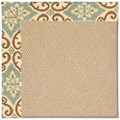 Capel Rugs Creative Concepts Cane Wicker - Shoreham Spray (410) Octagon 12