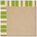 "Capel Rugs Creative Concepts Cane Wicker - Tux Stripe Green (214) Runner 2' 6"" x 8' Area Rug"