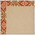 Capel Rugs Creative Concepts Cane Wicker - Shoreham Brick (800) Runner 2