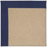 "Capel Rugs Creative Concepts Cane Wicker - Canvas Royal Navy (467) Runner 2' 6"" x 10' Area Rug"