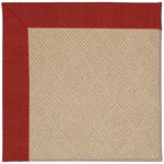 "Capel Rugs Creative Concepts Cane Wicker - Canvas Cherry (537) Runner 2' 6"" x 10' Area Rug"