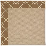 "Capel Rugs Creative Concepts Cane Wicker - Arden Chocolate (746) Runner 2' 6"" x 10' Area Rug"