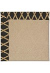 Capel Rugs Creative Concepts Cane Wicker - Bamboo Coal (356) Rectangle 4' x 4' Area Rug