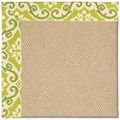 Capel Rugs Creative Concepts Cane Wicker - Shoreham Kiwi (220) Rectangle 5