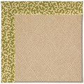 Capel Rugs Creative Concepts Cane Wicker - Coral Cascade Avocado (225) Rectangle 9