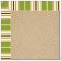 Capel Rugs Creative Concepts Cane Wicker - Tux Stripe Green (214) Rectangle 12