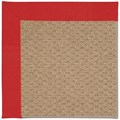 Capel Rugs Creative Concepts Raffia - Canvas Jockey Red (527) Octagon 4