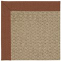 Capel Rugs Creative Concepts Raffia - Linen Chili (845) Octagon 4