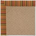 Capel Rugs Creative Concepts Raffia - Tuscan Stripe Adobe (825) Octagon 10