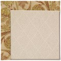 Capel Rugs Creative Concepts White Wicker - Cayo Vista Sand (710) Octagon 4
